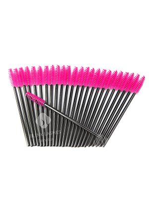 Mascara - Wimperborsteltjes Zwart Roze