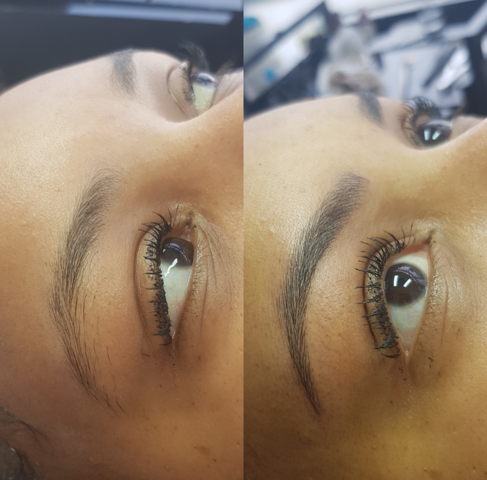 Permanente make-up hairstrokes